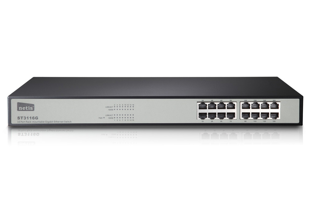 Mecer Ethernet Switch Hub 16 Port