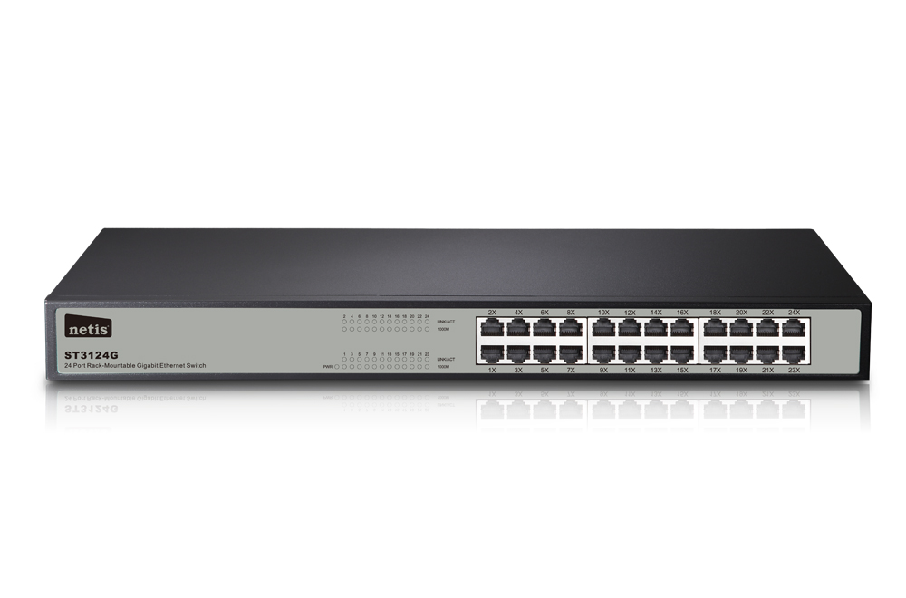 Mecer Ethernet Switch Hub 24 Port