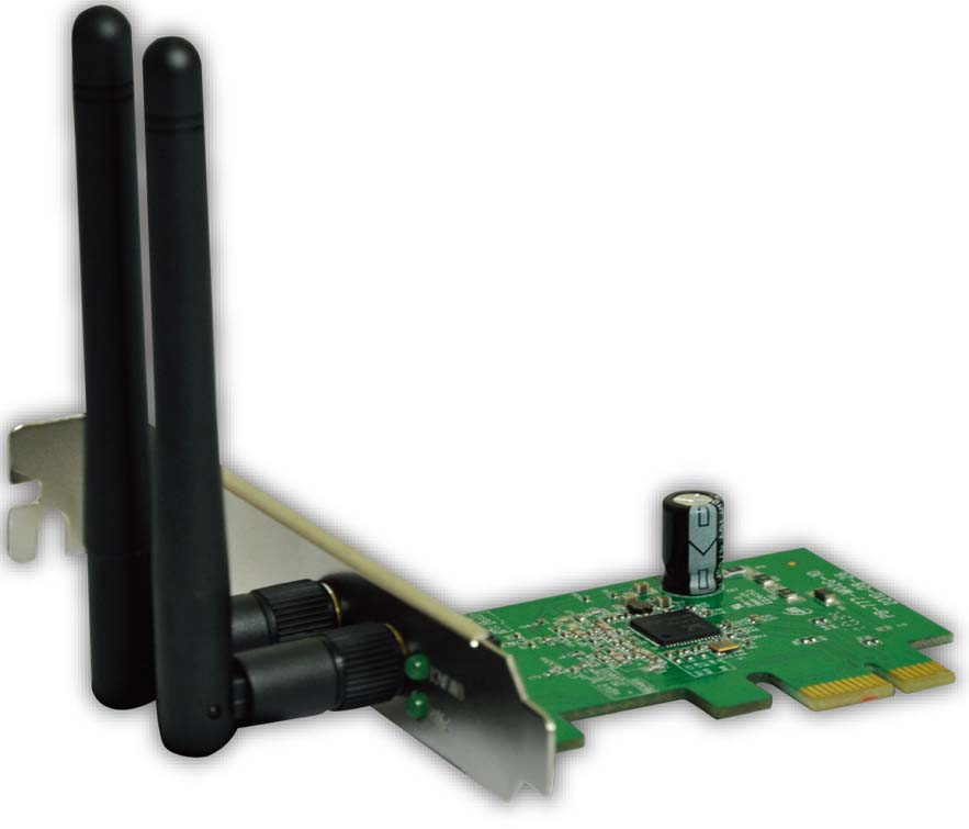 Mecer 802.11b/g/n 2T2R Internal Wireless PCIe Card